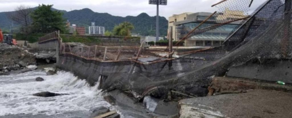 下関競艇場崩落事故珍事海水2