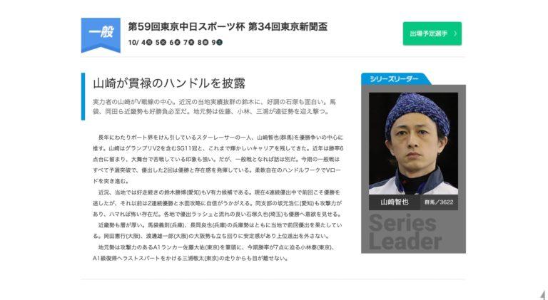 第59回東京中日スポーツ杯第34回東京新聞盃1